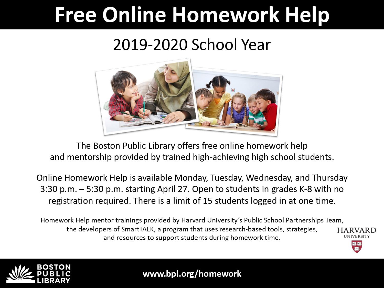 Homework help bpl
